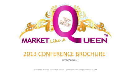 Click To Download Replay Conference Brochure MarketLikeAQueen